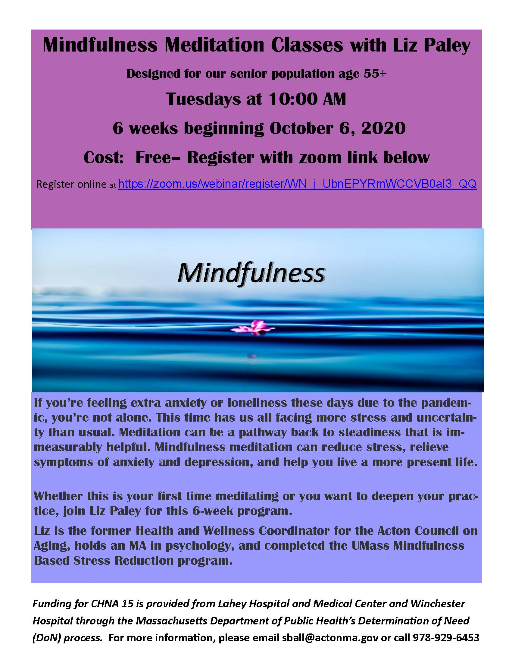 Mindfulness Meditation Invite
