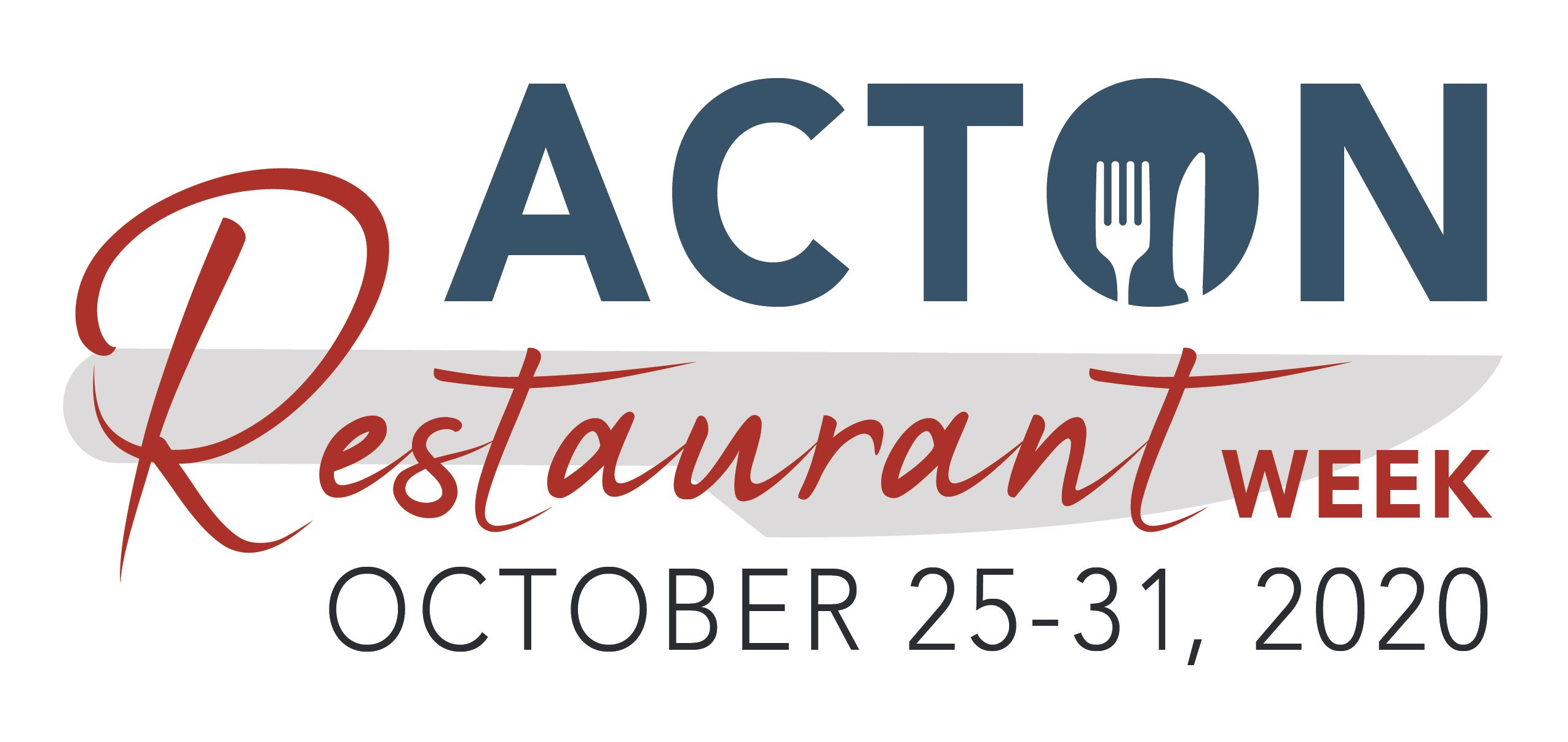 Acton Restaurant Week Logo 2020