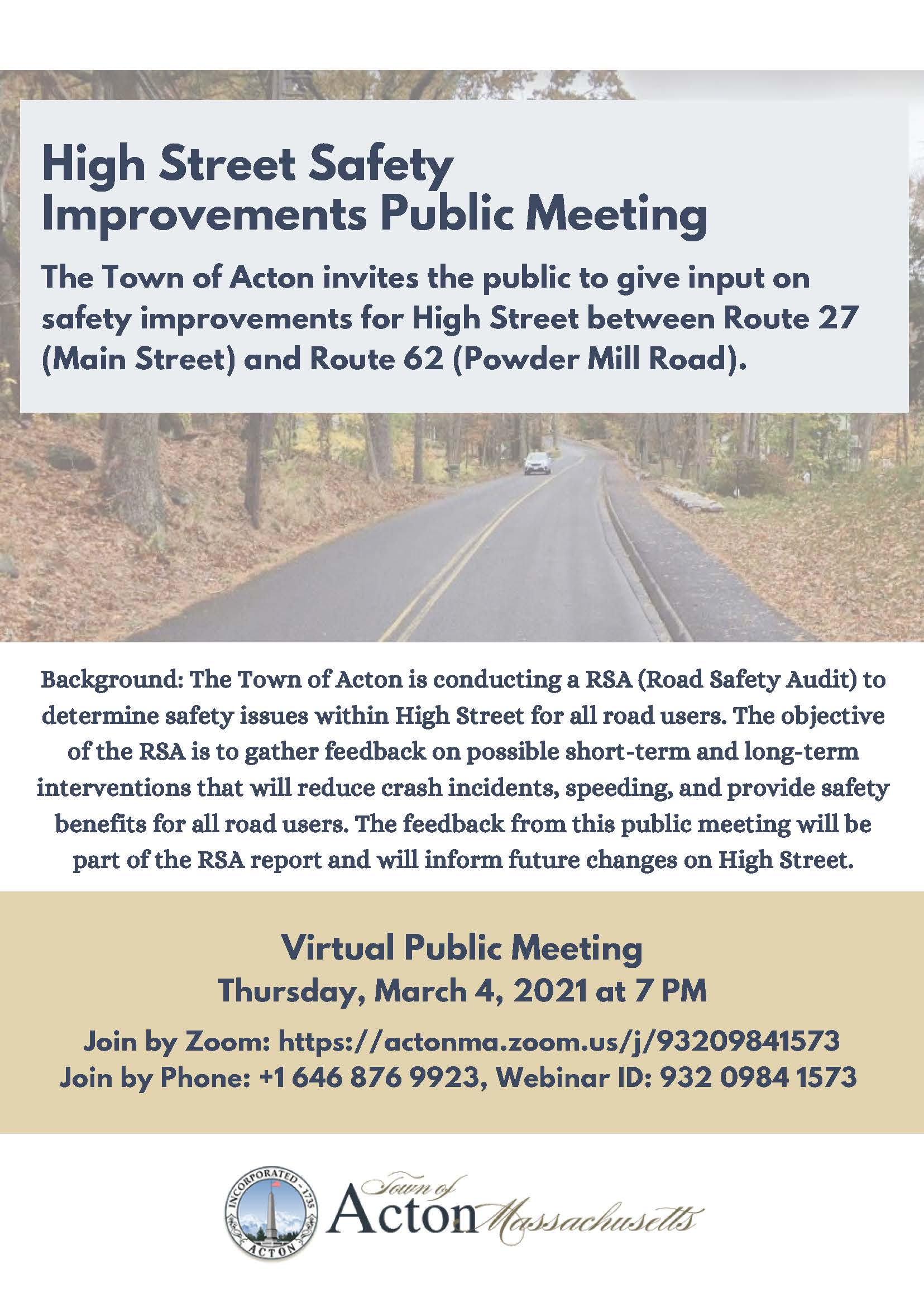 High St Public Meeting flyer posted